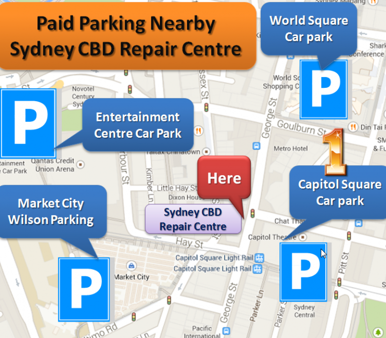 Paid Parking NearBy Sydney CBD Repair Centre