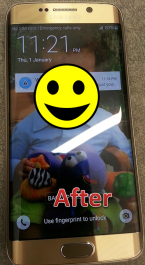After Samsung Galaxy S6 Edge Screen Replacement