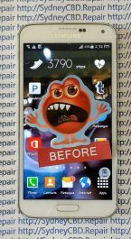Before Samsung Galaxy S5 Screen Repair