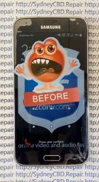 Before Samsung Galaxy S5 Screen Replacement