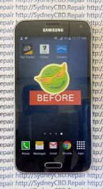 Broken Galaxy S5 Glass 5
