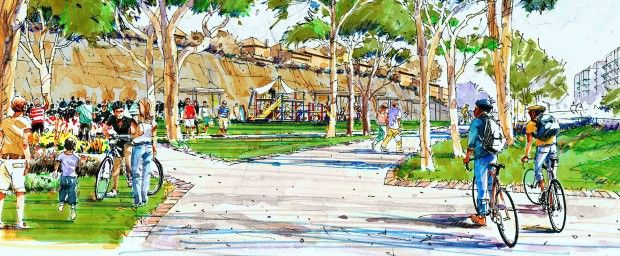 New park, gardens and cliff-side walk for Forest Lodge
