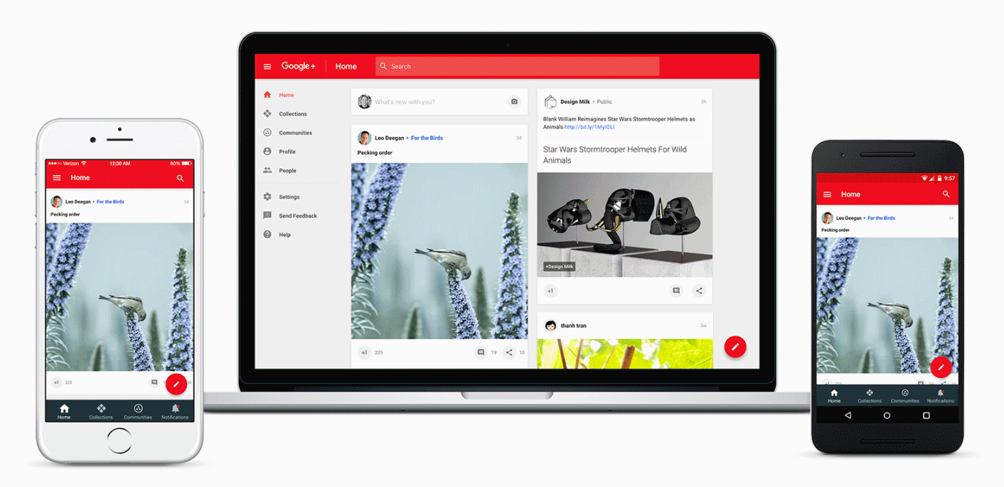 Google+ has been completely redesigned with a focus on communities