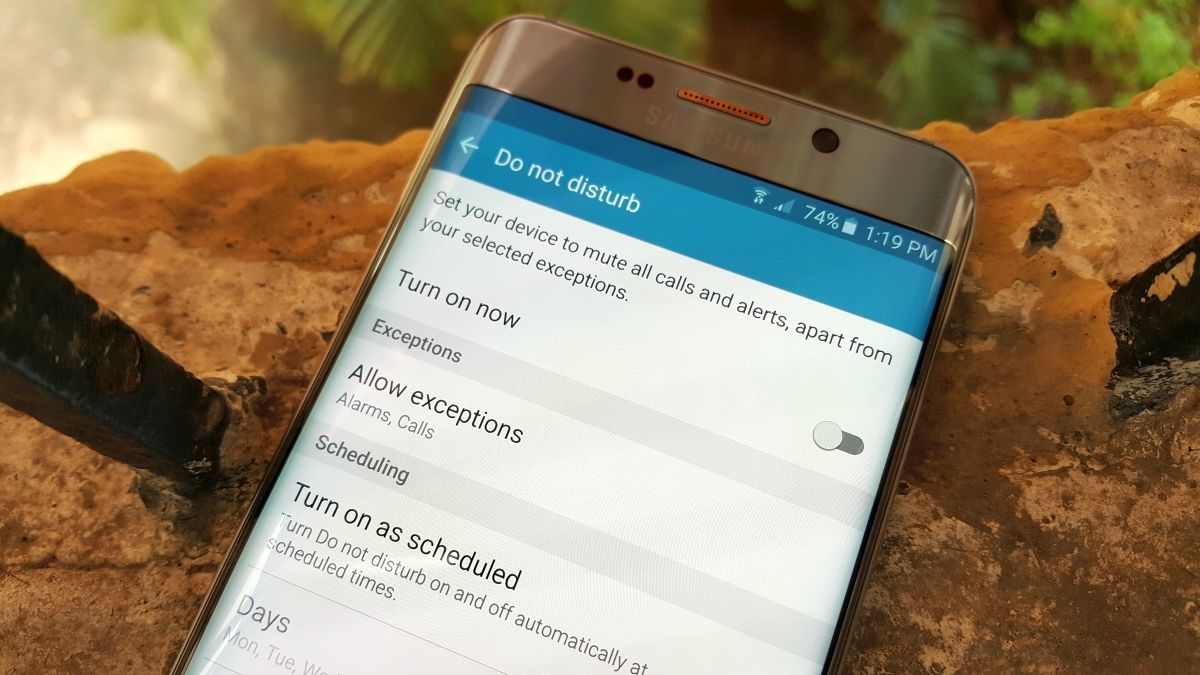 How to use Do Not Disturb mode on the Galaxy S6 edge+ and Note 5