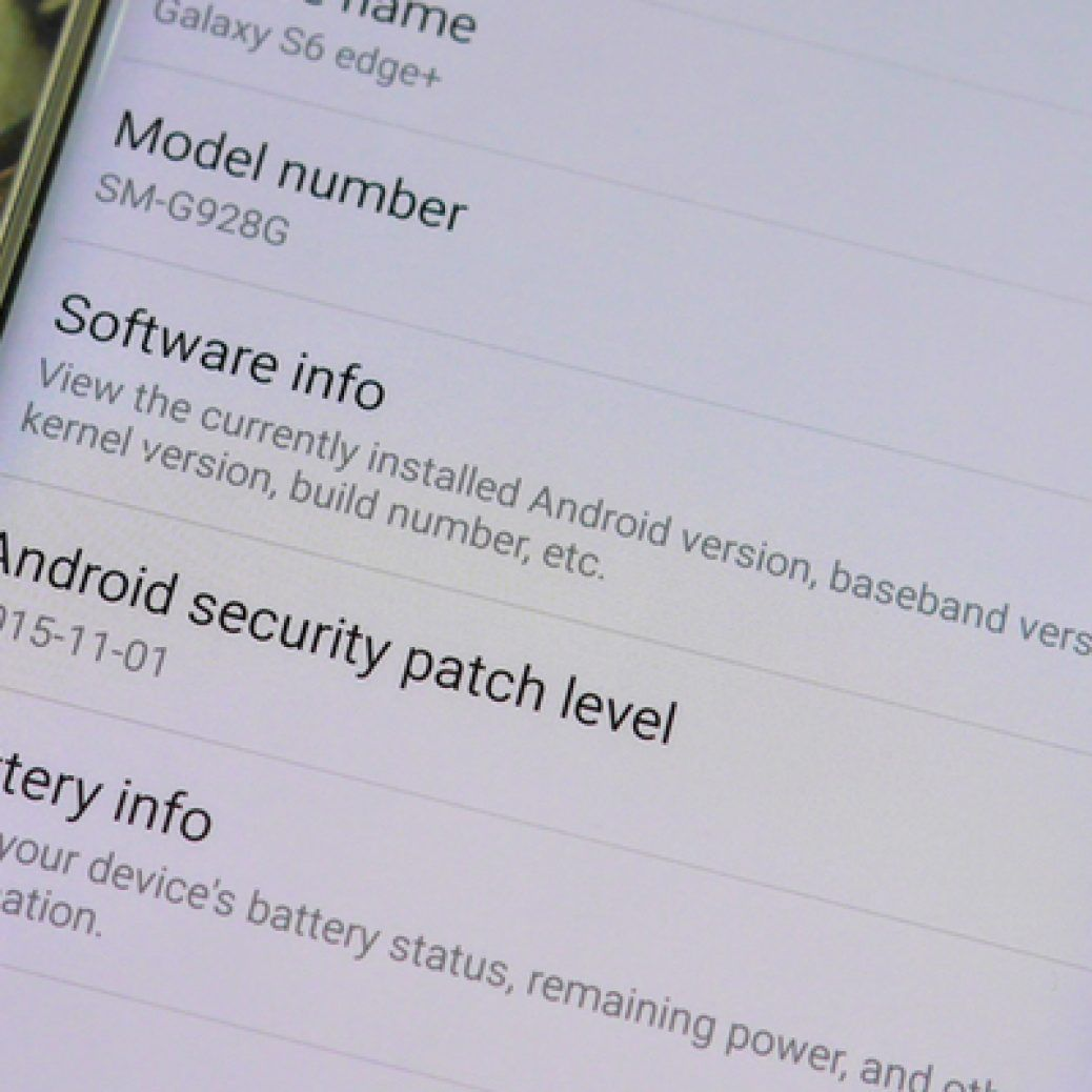 Samsung Galaxy Android Security Patch Level Feature