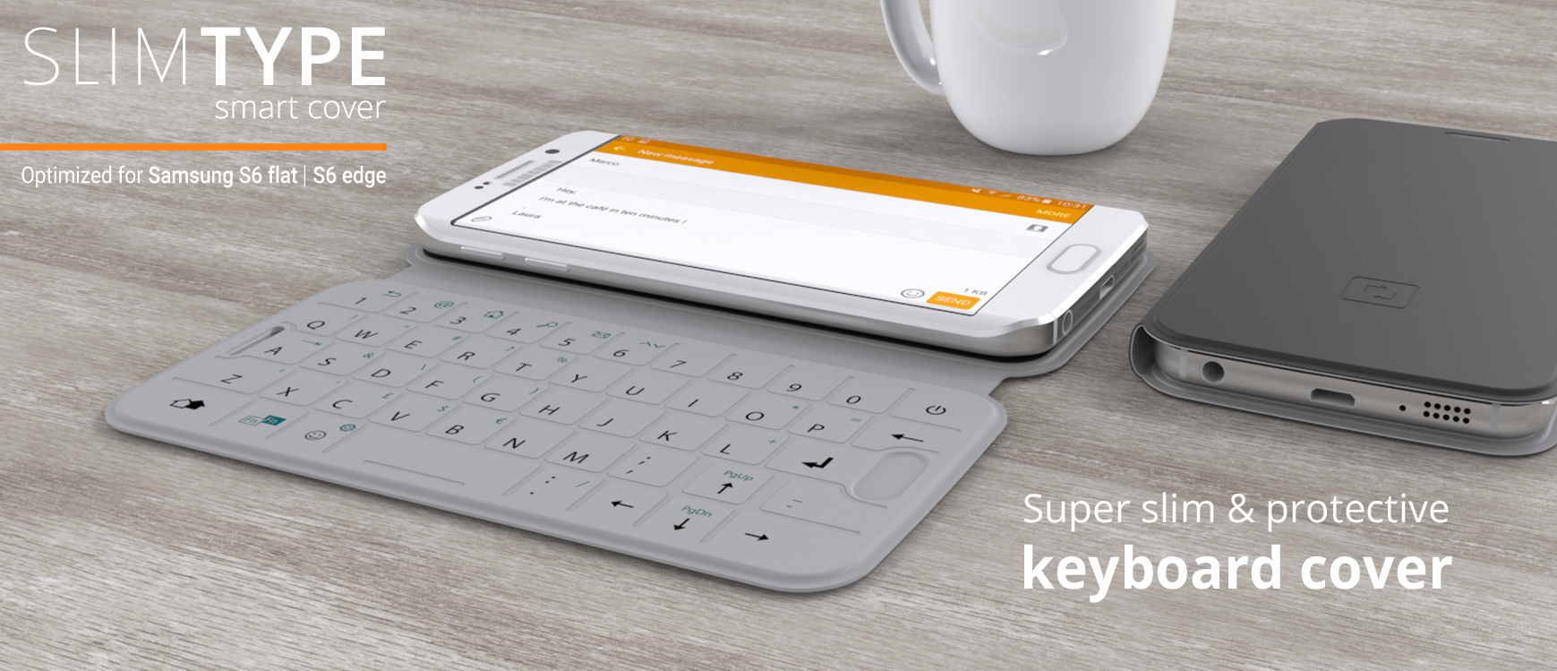 Galaxy S6 and S6 edge get NFC-enabled QWERTY keyboard case from One2Touch