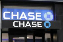 stock photo new york nov an exterior view of a chase bank in new york city on november chase 164798936