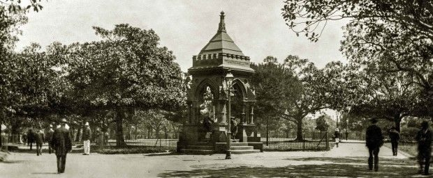 WP Frazer fountain original location 1906 Please credit City of Sydney Archives 620x256