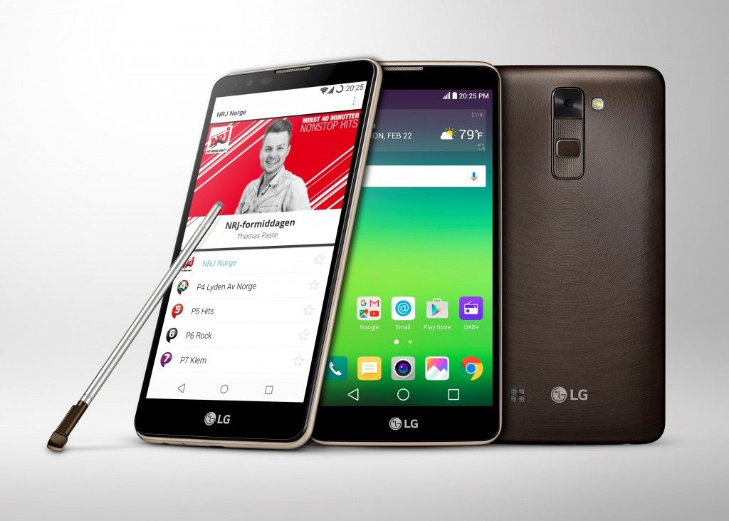 LG STYLUS 2 FIRST SMARTPHONE TO SUPPORT DAB+