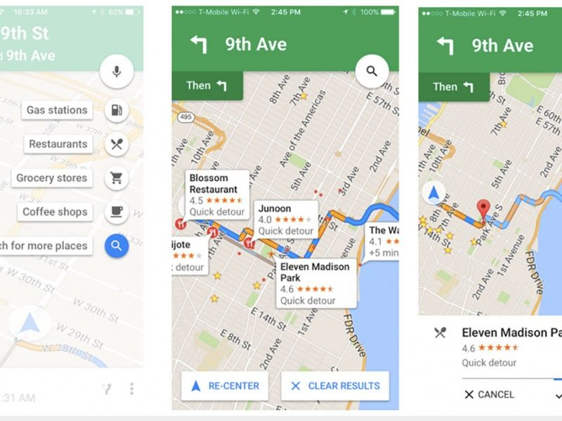 Google Maps pit stop feature arrives on iOS