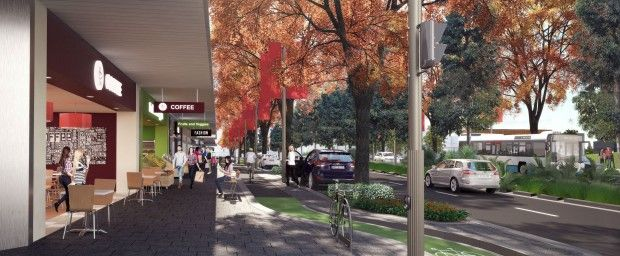 New bike lanes open Green Square links