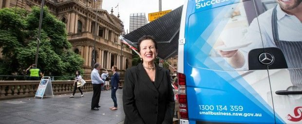 Lord Mayor Clover Moore with the Small Biz Bus 620x256