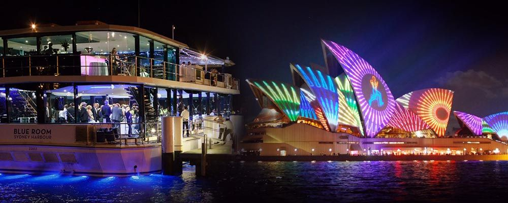 Australian Cruise Group on Vivid Sydney Cruises