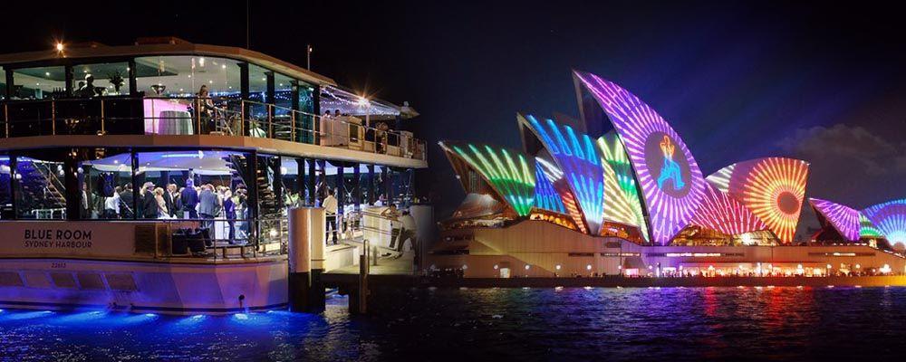 Australian Cruise Group on Vivid Sydney Cruises