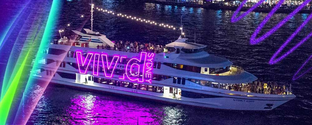 Captain Cook on Vivid Sydney Cruises