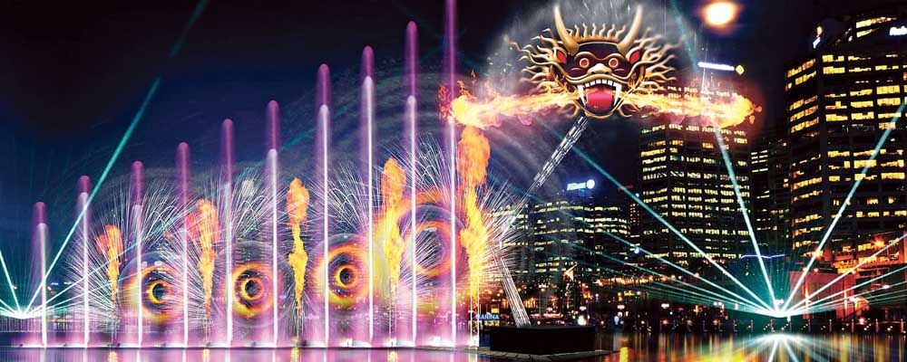 Darling Harbour Vivid Sydney Precinct