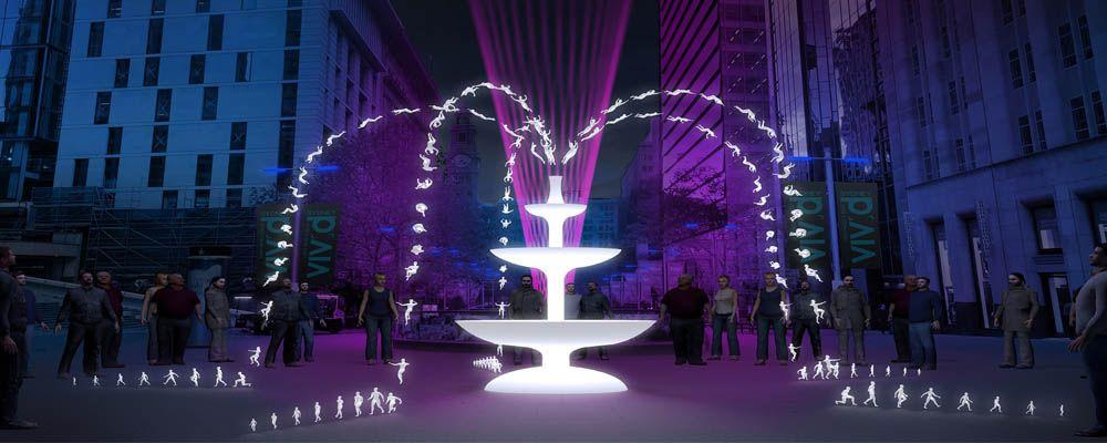 Fountain on Vivid Sydney 2016