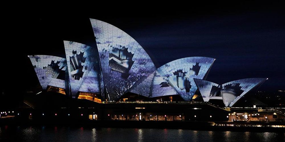 Lighting the Sail Vivid Sydney