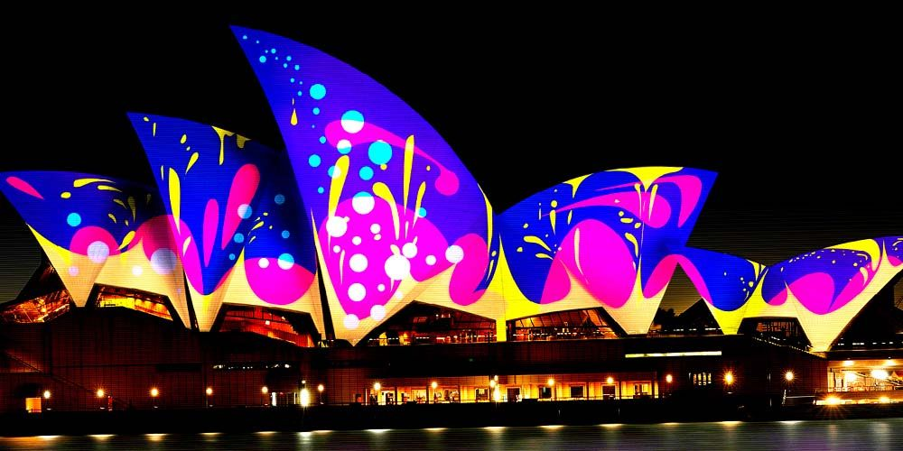 Lighting the Sail Vivid Sydney
