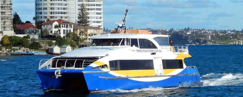 Manly Fast Ferry on Vivid Sydney Cruises