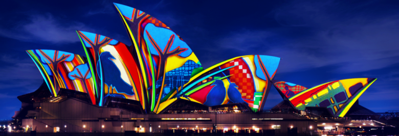 Exclusively for Vivid Sydney, the Sydney Opera House Tour