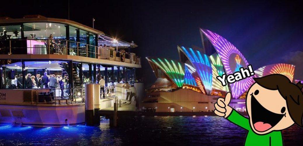 Vivid Sydney Glass Boat