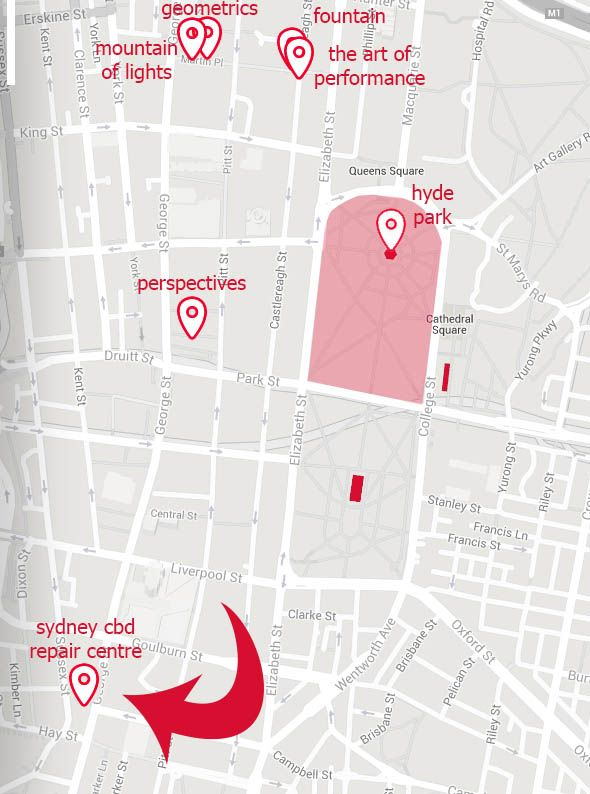 Sydney CBD Repair Centre Location