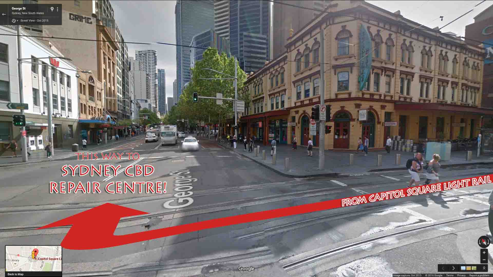 Capitol Square Light Rail to Sydney CBD Repair Centre