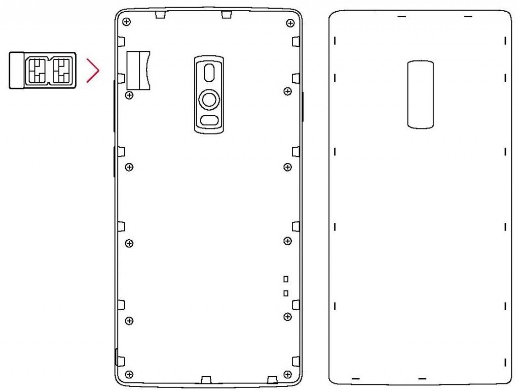 OnePlus 2 Dual Sim Card Tray