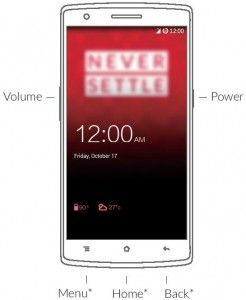 OnePlus One Hardware Buttons