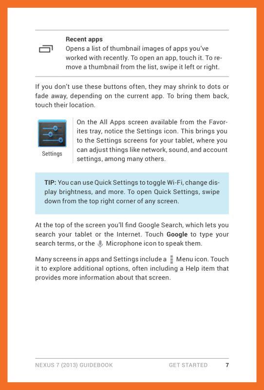 Google Nexus 7 Manual