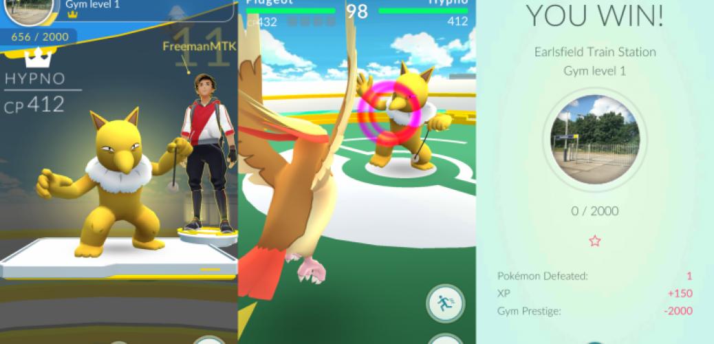 pokemon go gym battles