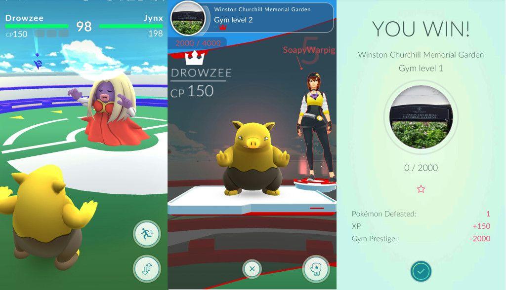 pokemon go gym training