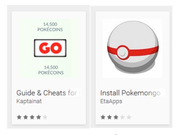 Pokemon GO Fake Apps