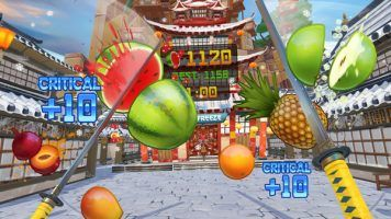 Welcome, to a double sword version of Fruit Ninja.
