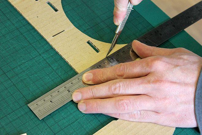 google cardboard cut holes