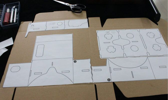google cardboard glued