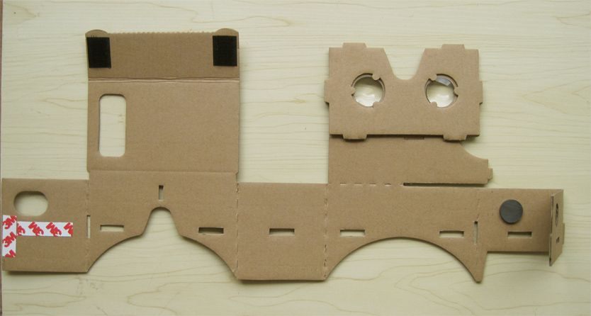 google cardboard laid out
