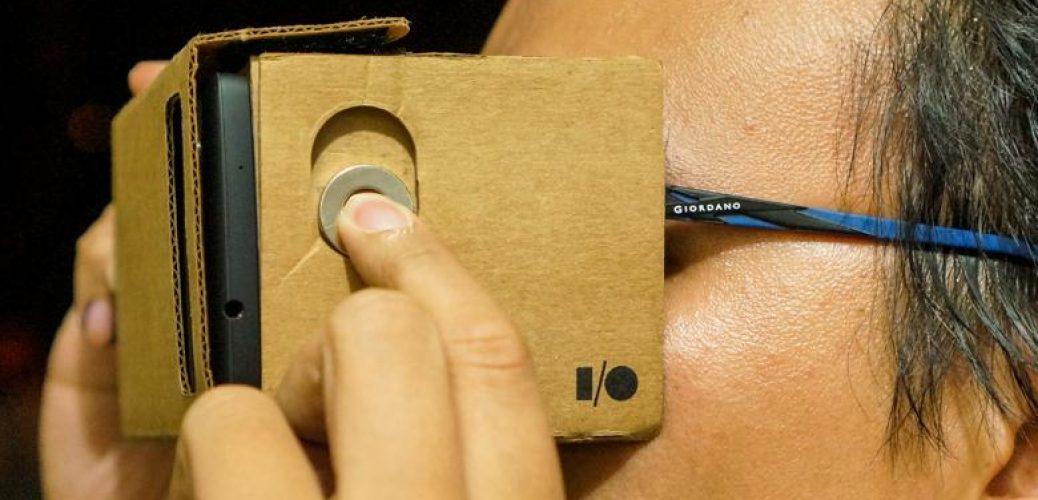 google cardboard magnet install