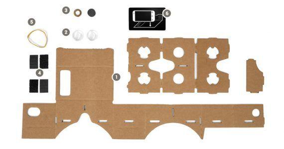google cardboard parts