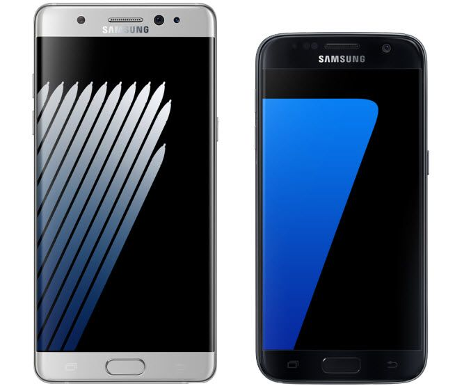 whats the difference between the s7 and note 7