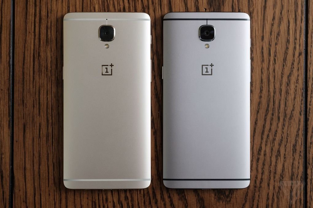 oneplus 3 gold and gray the verge