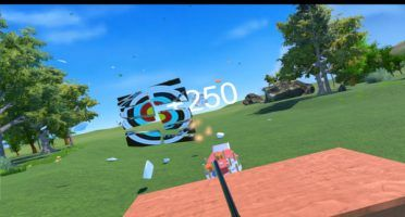 Safely show off your gun skills in Skeet: VR Target Shooting