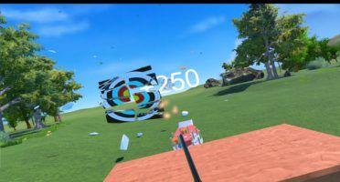 Safely show off your gun skills in Skeet: VR Target Shooting