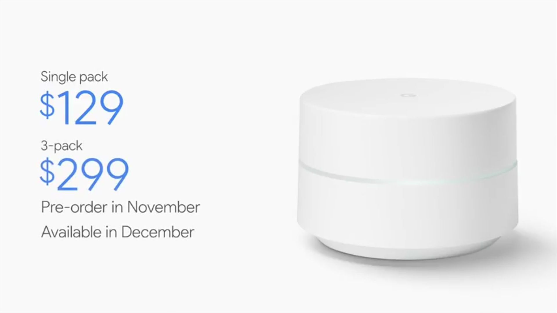 Google WiFi Specifications