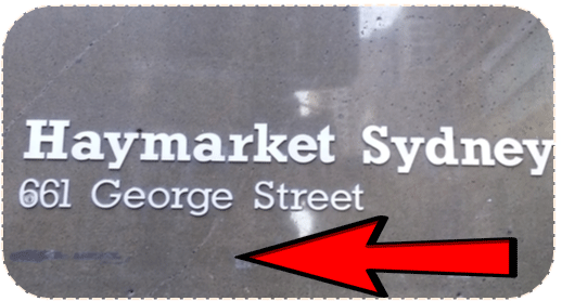 Easy To Find - check [Haymarket Sydney 661 George Street] Sign.