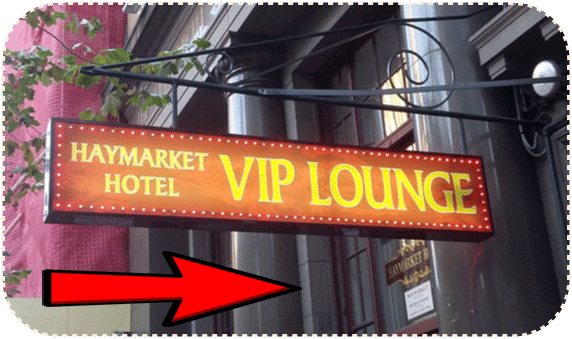 Easy To Find - check [VIP Lounge] Sign.