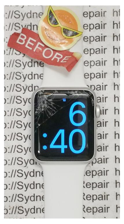 Broken Apple Watch Before Repair