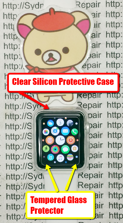 Tempered Glass Protector Clear Silicon Case Cover