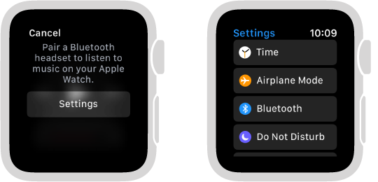 How to connect bluetooth headphones or speakers to Apple Watch